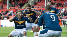 Shenanigans at Fir Park led to this Michael Higdon celebration