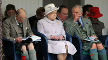 The Queen, Prince Philip and Prince Charles