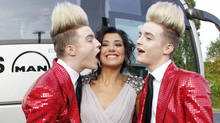 Caught on camera: Jedward with Spain's Lucia Perez