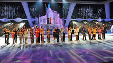 All the contestants line up