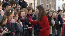 Kate Middleton visits St Andrews