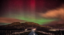 Northern Lights over Scotland February 27, 2014