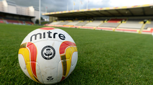 Partick Thistle ball at Firhill in August 2013.