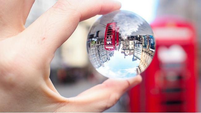 Top sites around Edinburgh captured through a crystal ball