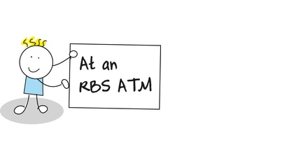 At an ATM