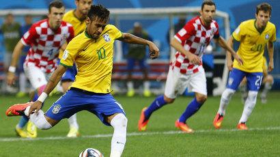 Neymar in action for Brazil.