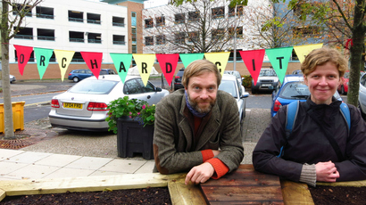 Dundee Urban Orchard artists Jonathan Baxter and Sarah Gittins