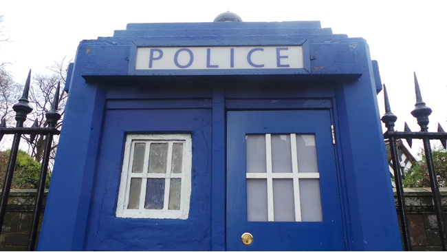 Glasgow police boxes get an inside job by Java Coffee
