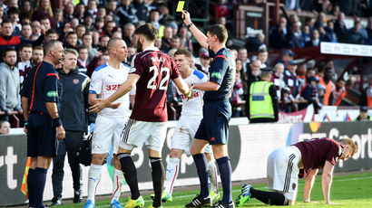 SPFL Wrap: Hearts handle heat as Rangers lose control at Tynecastle
