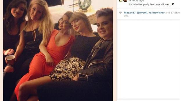 Sarah hyland celebrated her 24th birthday with taylor swift kelly