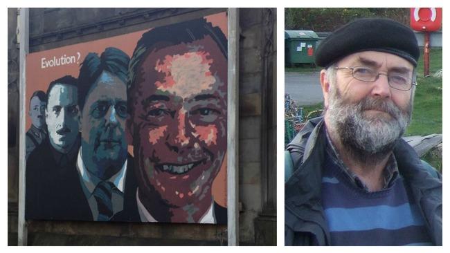 Artist defends mural linking Nigel Farage and Adolf Hitler