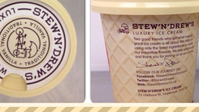 Rowie's this for an ice cream flavour from Stew 'n' Drew?