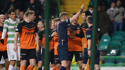Dundee United to appeal Ryan McGowan red card against Celtic
