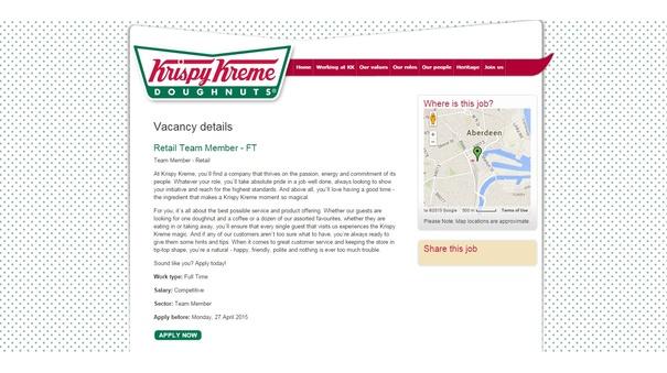 Krispy Kreme post job advert ahead of Aberdeen launch
