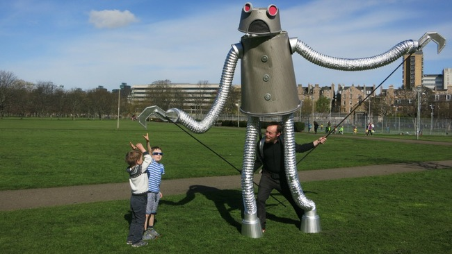 Want to know why a giant robot has been roaming the Meadows?