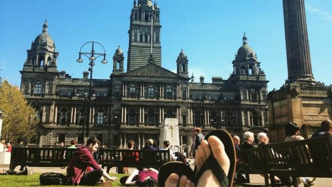 Best sunny snaps in Glasgow on 'warmest day of the year'