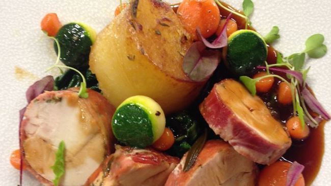 Gary Maclean's Smoked roast chicken with Parma ham, potato and herby ...