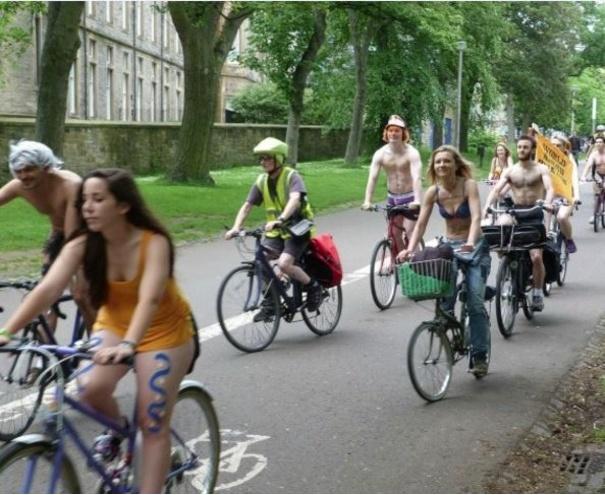 World Naked Bike Ride in Edinburgh to protest against car ...