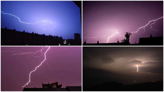 Storm lights up Aberdeen with spectacular lightning display
