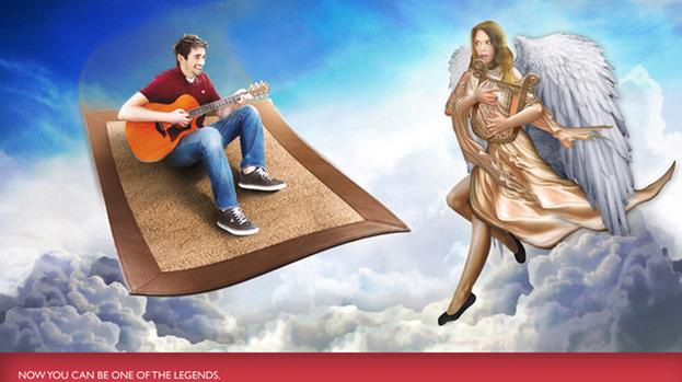 Flying high: Sean Kinnear's magic carpet pitch impressed.