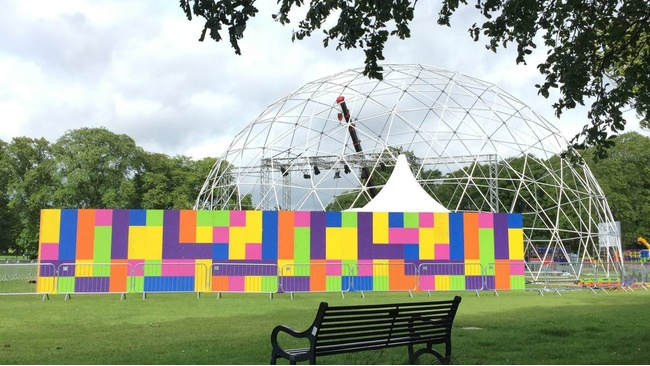 Strong winds blow new Fringe circus tent off course