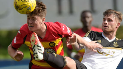 Jack Hendry and David Goodwillie Partick Thistle v Aberdeen 29 August 2015