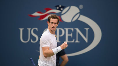 Andy Murray during his 2nd round men's singles match against Adrian Mannarino