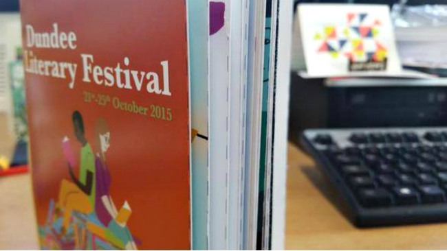 Check out the highlights at this year's Dundee Literary Festival