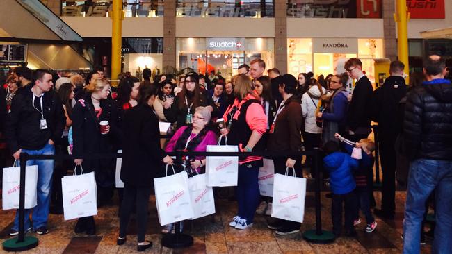 Doughnut fans queue for Krispy Kreme launch in Aberdeen