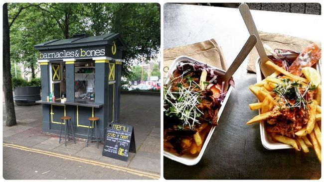 Enjoy grub on the go from Barnacles and Bones police box cafe