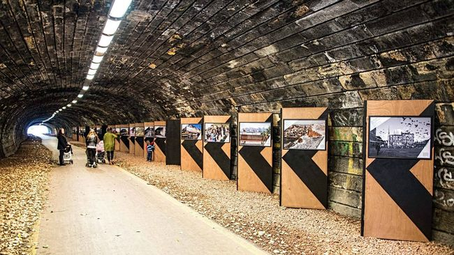 Old Canonmills railway tunnel turned into photo exhibition