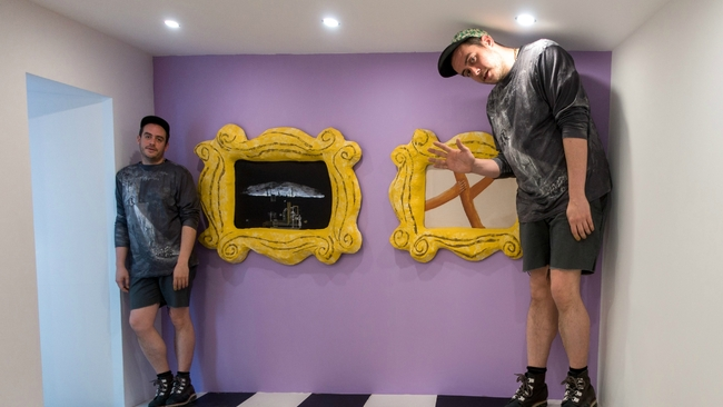Optical illusion exhibit inspired by TV show 'Friends' launches in Glasgow