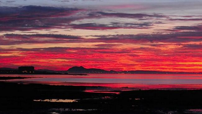 Stunning September sunset captured across Scotland