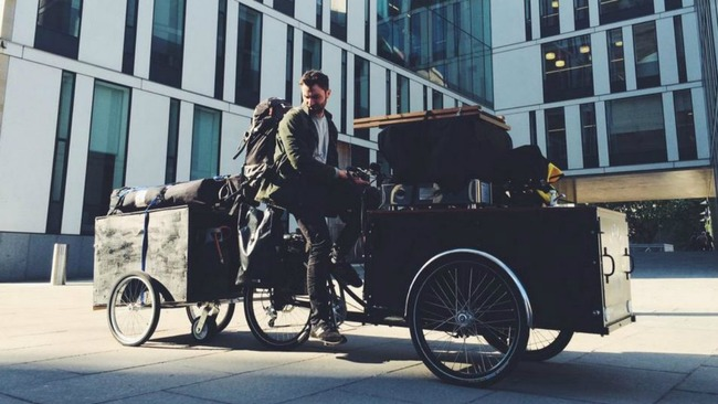 Meet the bearded barista buzzing over his bike brews