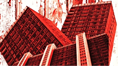 Red Road flats inspired artwork by Glasgow art student Susan Ward.