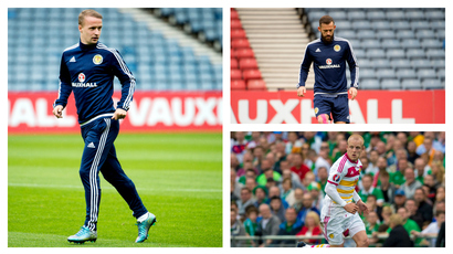 Scotland striker options for the Euro 2016 clash with Poland.