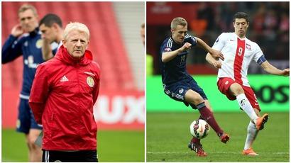 Gordon Strachan, Robert Lewandowski, Darren Fletcher, Scotland, Poland, Euro 2016