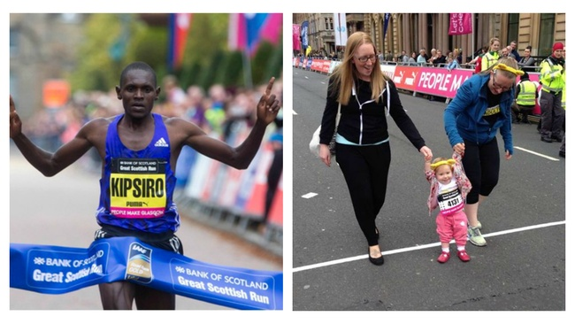 From Kipsiro to kids: 30,000 conquer Great Scottish Run