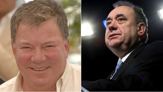 Salmond strikes up bromance with original Kirk after using Star Trek alias