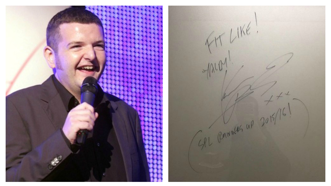 Kevin Bridges takes a swipe at Aberdeen FC's title chances on Wall of Fame