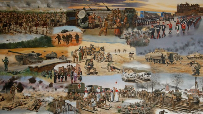 One hundred years of Scottish army life captured on canvas