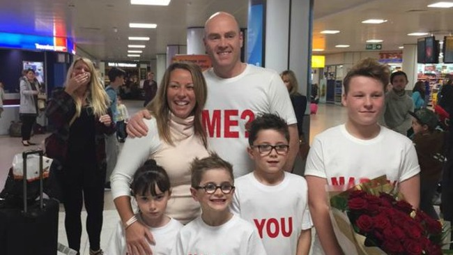 Foster mum swept off her feet after romantic airport proposal