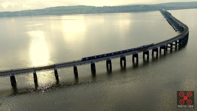 Stunning drone footage captures the Silvery Tay at sunrise