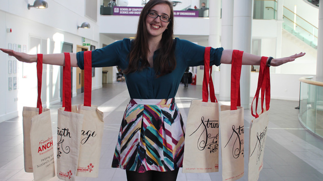 Student 'totes' happy as inspirational bags raise thousands for charity
