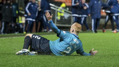 Ziggy Gordon celebrates after scoring to give Hamilton a 2-1 lead