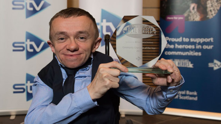 Overall winner of the RBS - Finding Scotland's Real Heroes awards John O'Byrne
