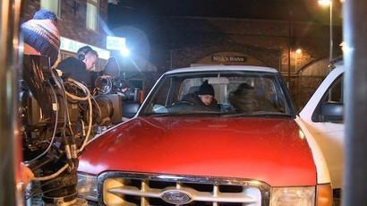 Behind the scenes of the bistro burglary in Coronation Street