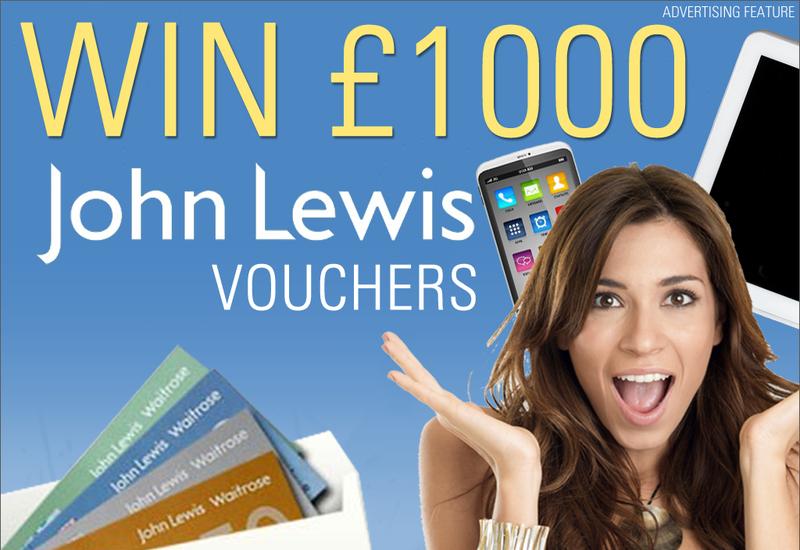 Win £1,000 John Lewis Vouchers!