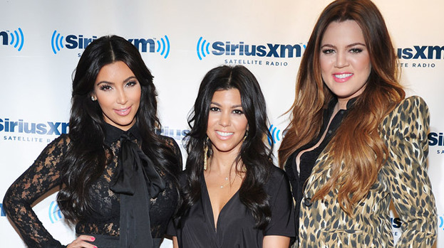 London calling: The Kardashian sisters (L-R Kim, Kourtney, Khloe) and the rest of the clan are tipped to film in the UK