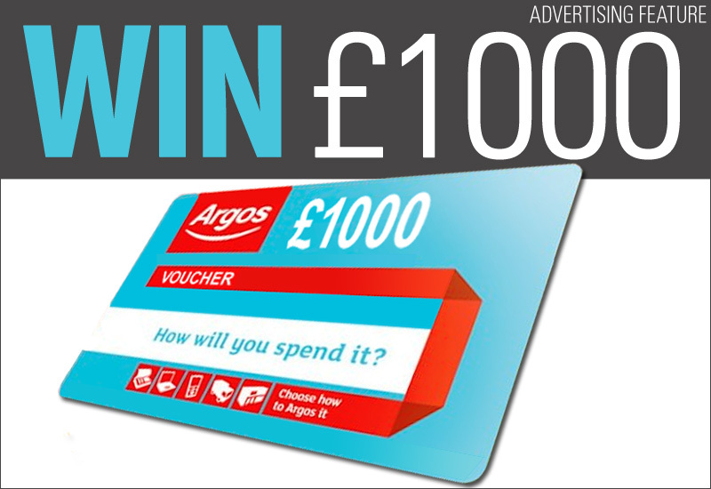 Win £1,000 Argos Vouchers